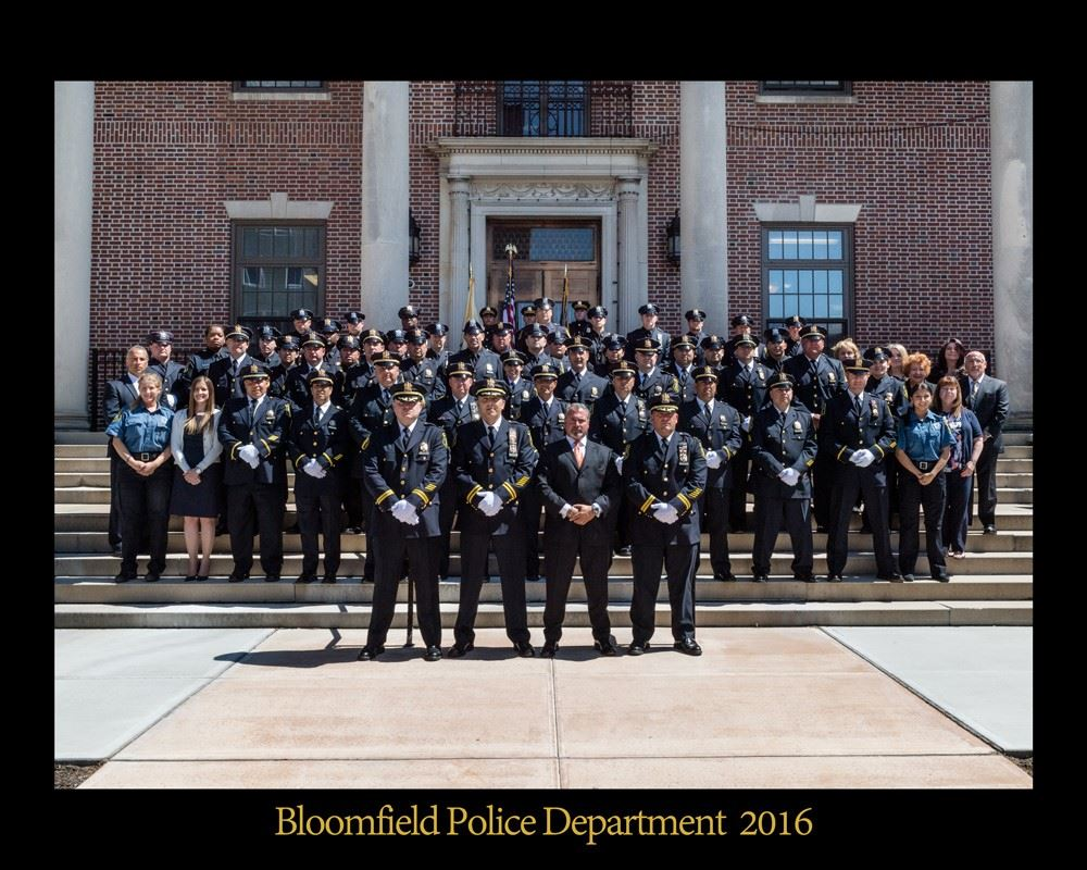2016 Bloomfield Police Department Staff Photo
